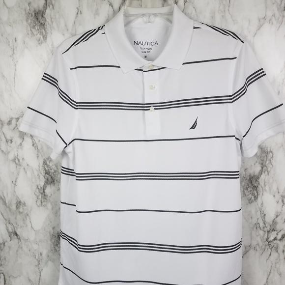 The Cheapest Price Nautica Polo Shirt Mens Xl Gray 100% Cotton Polos Men's Clothing
